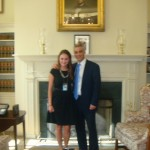 With Rahm Emanuel (of course it had to be blurry!)