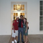 Outside the West Wing doors