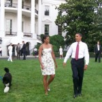 President and First Lady at the staff picnic