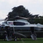 President Obama arriving home