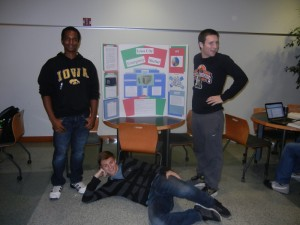 My group, Group 11, with our poster. What do you think?