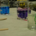 Mixing the goo and making it colorful!