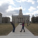 My friends decided to help out and make sure I knew where the Old Capitol was :P