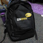 The awesome backpack for On Iowa! that we were originally told we would have to return but after talking about how cool it is, we are allowed to keep them! Isn't it awesome?!