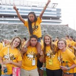 Some of my small group having fun at Kinnick