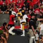 Our awesome Herky high-fiving the other mascot