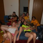 My friends on the giant beanbag chair :)