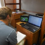 Multi-tasking: Watching a football game while doing Organic Chemistry homework