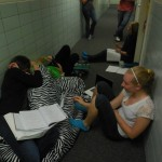 You know, just studying in the hall