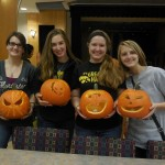Our pumpkins! :) We were the last ones there so we got a picture together before heading back to homework.