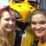 Herky even helped me and my friend move a student in. He helped drive my cart and get in line at the elevator.