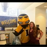 Picture with Herky for Homecoming!