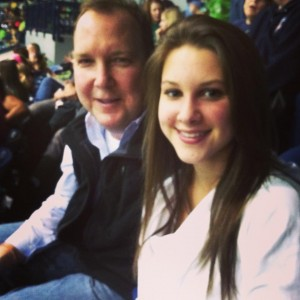 Dad and I at the Notre Dame game