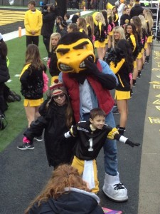 The kid Captain with Herky